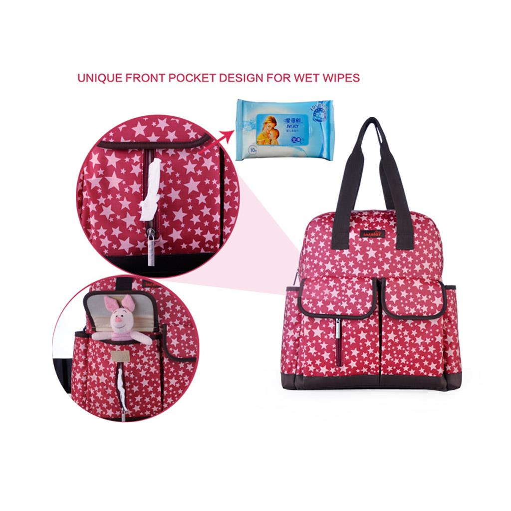 mommy backpack diaper bag red lazada singapore. Black Bedroom Furniture Sets. Home Design Ideas